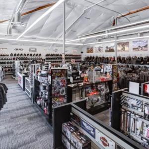 Renegade Sacramento store: the patch display racks