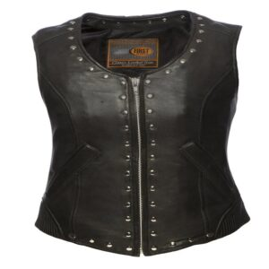 Leather club vests for ladies