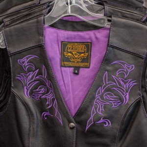 Embroidered motorcycle vests