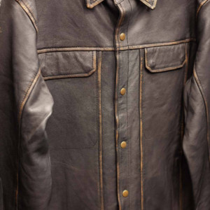 Leather shirts - Long sleeves
