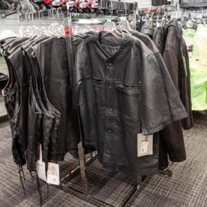 Leather biker shirt - short sleeves